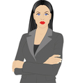 woman in jacket vector image vector image