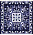 Seamless pattern from tiles and border vector image