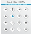 Clothing Store icons set vector image