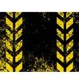 grungy hazard stripes vector image vector image
