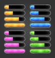 Set of bar downloader-3 vector image