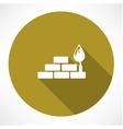 bricks and trowel icon vector image