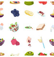 fruit dessert sandwiches and other types of food vector image