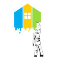 house painter at work vector image