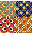 seamless round figures pattern set vector image