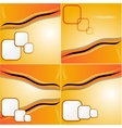 set of elegant abstract orange background with vector image