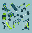 sports equipment for gym isometric vector image