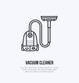 vacuum cleaner flat line icon logo vector image