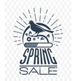 black sale singing bird vector image