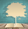 Abstract tree background with book and tree vector image vector image