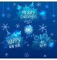 snowfall blue vector image vector image