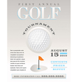 Golf Flyer vector image vector image