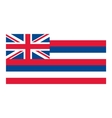 Hawaii flag vector image vector image