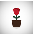 Love Flower Pot vector image