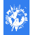 blue Travel background vector image vector image