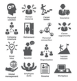 Business people management icons vector image