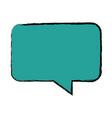 bubble speak chat text message icon vector image