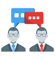 Business people communication concept in fl vector image