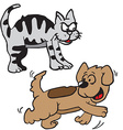 cat and dog vector image