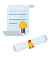 Diploma Blank Certificate Icons vector image
