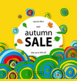 discount banner autumn sale vector image