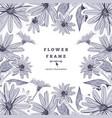 flower frame drawing floral background vector image