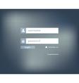 Modern login form for website vector image