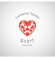 Ornamental Heart Logo vector image