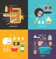 Set of Flat Style Cooking Concept Ingridients and vector image