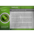 template green target vector image