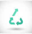 upcycling flat icon vector image