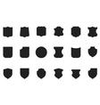 Vintage flat heraldic shield shapes labels vector image