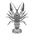 Zentangle stylized Black Crawfish Hand Drawn vector image