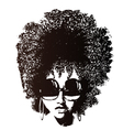 afro hair retro face vector image vector image