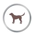 Labrador icon in cartoon style for web vector image