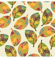 Seamless Pattern with Bright Autumn Leaves vector image vector image