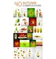 Mega set of autumn concepts vector image vector image
