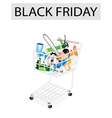 Craft Tools in Black Friday Shopping Cart vector image