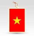 Vietnamese made in tag vector image