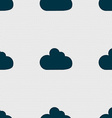 Cloud sign icon Data storage symbol Seamless vector image