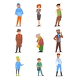 People of Different Lifestyle Age and Profession vector image vector image