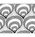 seamless wave background of doodle drawn vector image