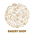 Bakery shop Hand drawn bakery background vector image