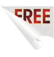 free paper roll vector image vector image