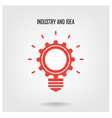 Creative light bulb concept vector image