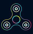 rainbow color fidget spinner creative concept of vector image