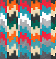 retro pixels seamless pattern vector image