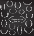 set of chalk wreaths vector image
