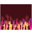 rising hands vector image vector image