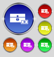 chest icon sign Round symbol on bright colourful vector image